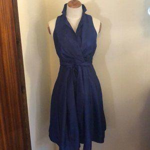 GORGEOUS Evan Picone Blue Collar Halter Dress